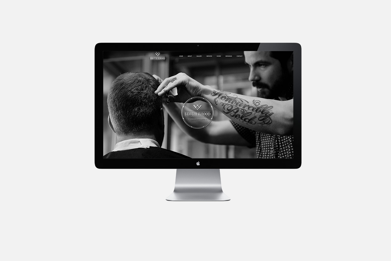 Brotherhood Urban Stylists web design Auckland