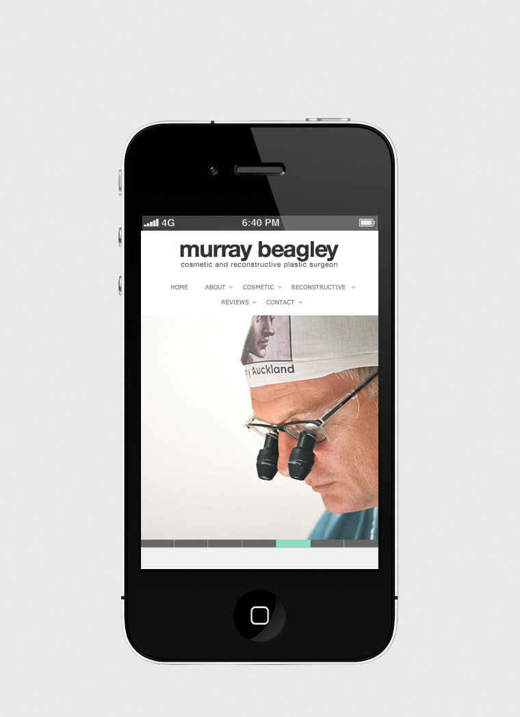 Murray Beagley Plastic Surgery Auckland web design