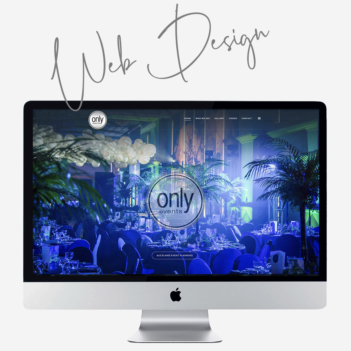 Only Events Auckland custom web design